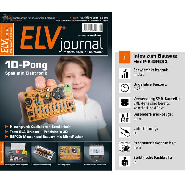 ELV Homematic IP Bausatz 3-fach-Funk-Dimmaktor für Hutschienenmontage HmIP-K-DRDI3