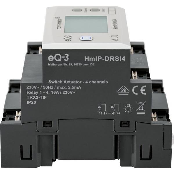 Homematic IP Funk-Schaltaktor für Hutschienenmontage HmIP-DRSI4, 4-fach