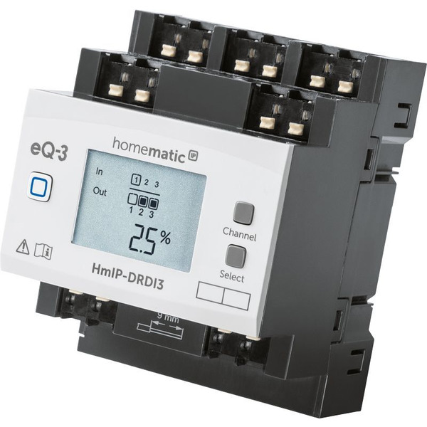 Homematic IP Smart Home Funk-Dimmaktor für Hutschienenmontage, HmIP-DRDI3, 3-fach
