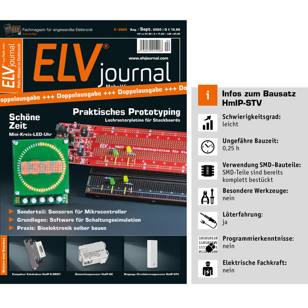 ELV Homematic IP ARR-Bausatz Neigungs- und Erschütterungssensor HmIP-STV