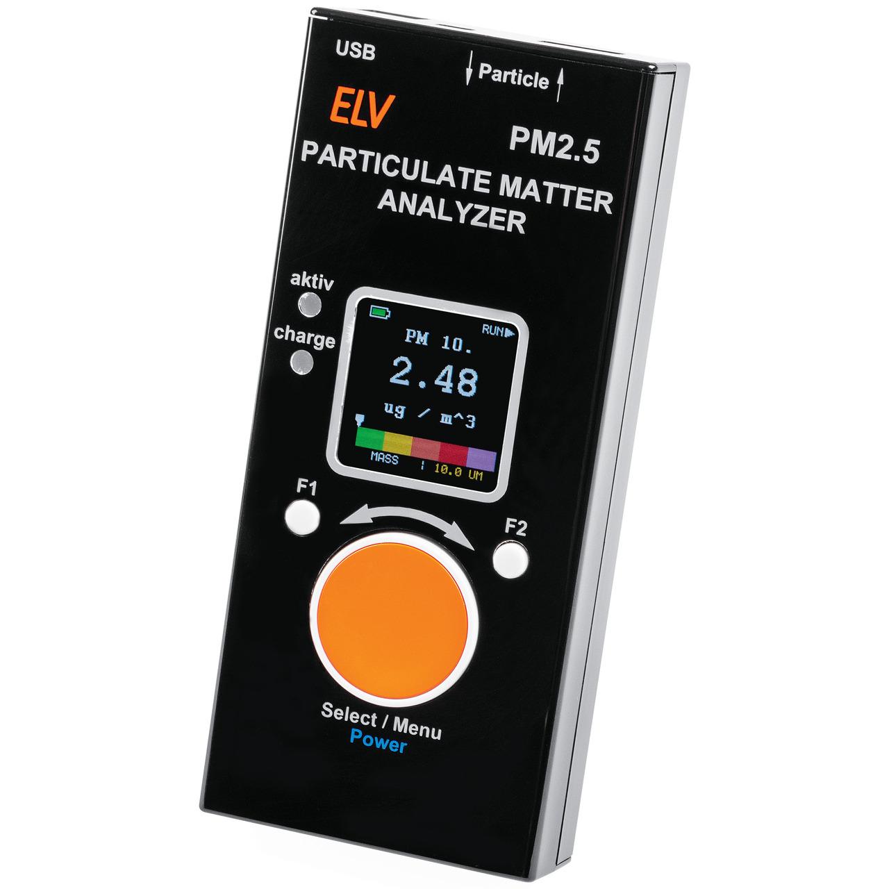 ELV Feinstaub-Messgerät PM2-5- Fertiggerät (verbauter Feinstaubsensor SPS30 ist MCERTS-Zertifiziert)