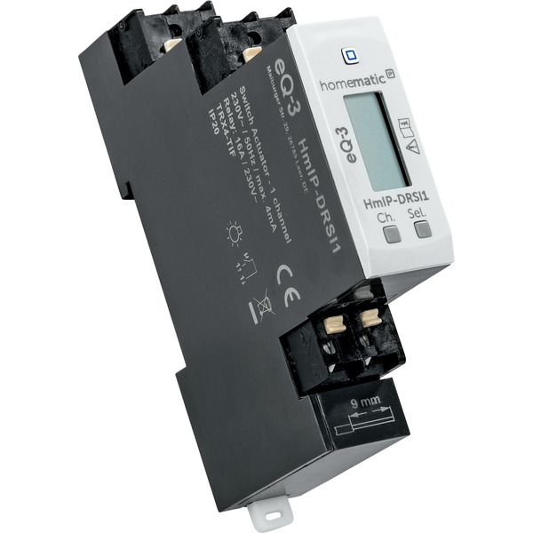 Homematic IP Smart Home Funk-Schaltaktor für Hutschienenmontage, HmIP-DRSI1, 1-fach