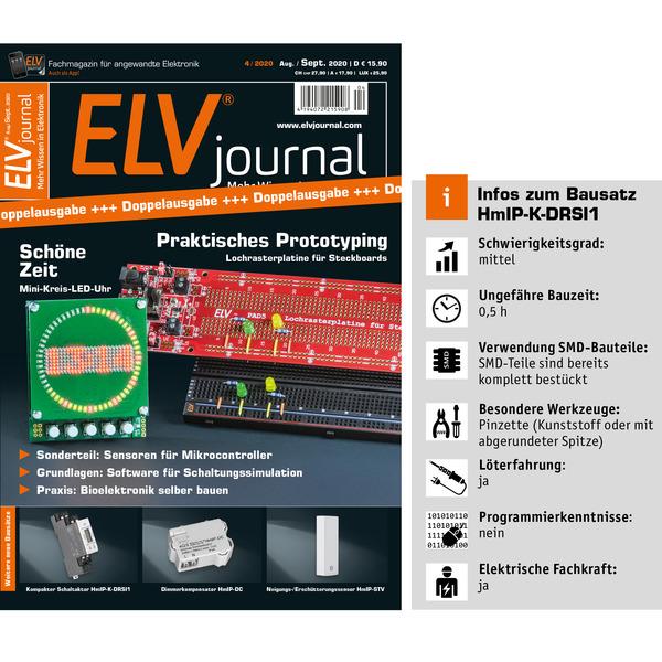 ELV Homematic IP Bausatz Funk-Schaltaktor für Hutschienenmontage HmIP-K-DRSI1