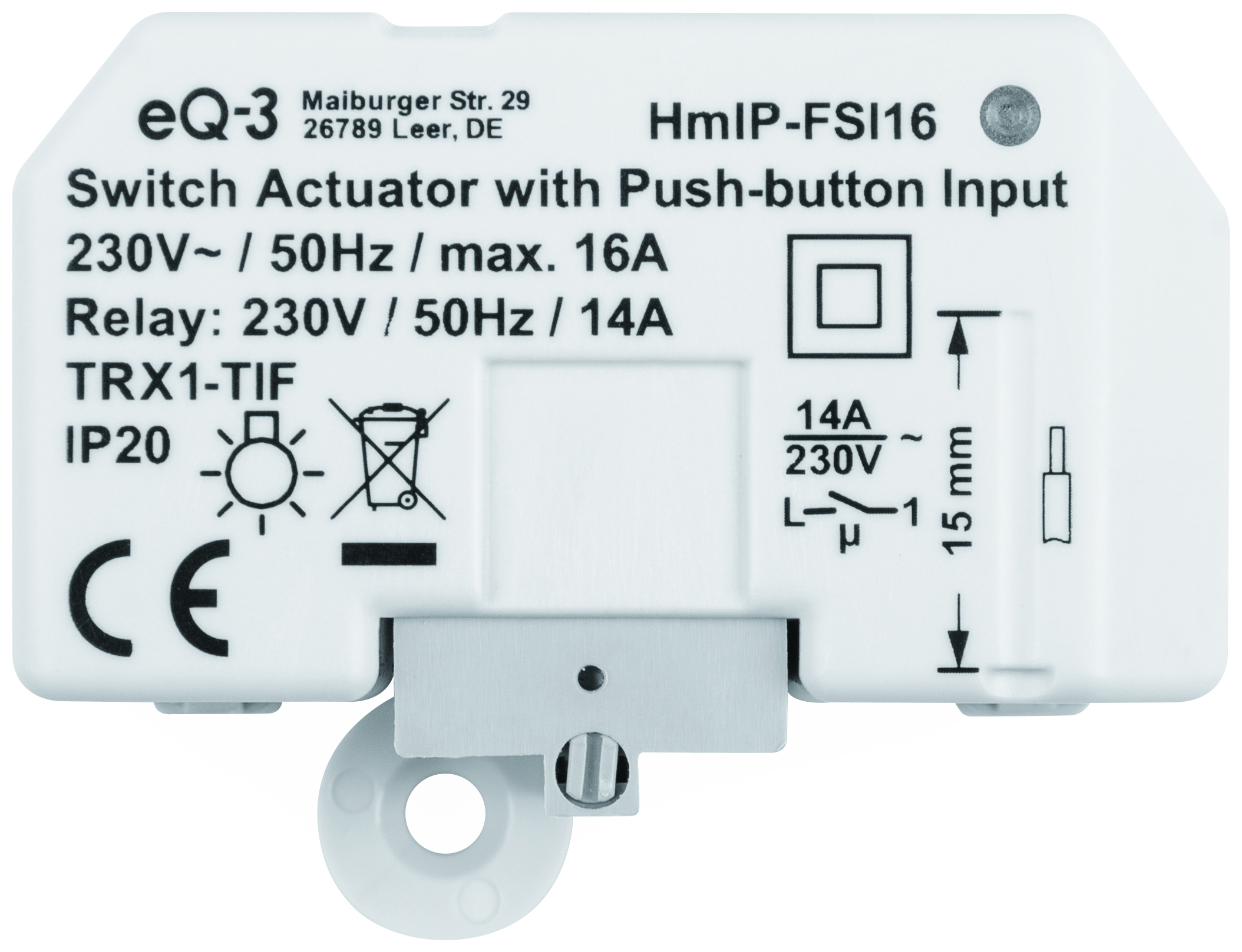 ELV Homematic IP Bausatz Schaltaktor mit Tastereingang 20 A HmIP FSI20,  Unterputz