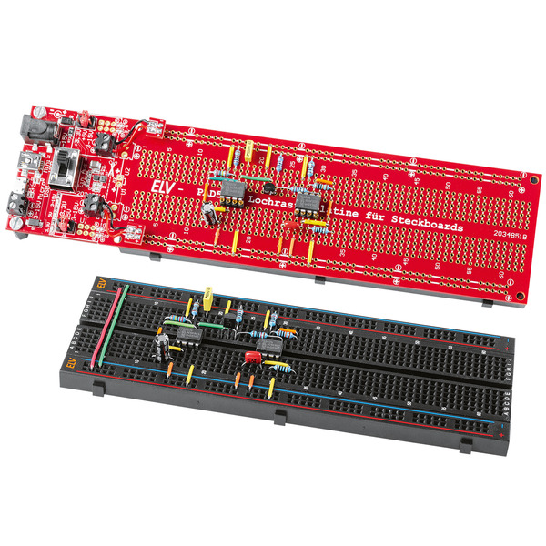 ELV Bausatz Lochrasterplatine für Steckboards PAD5, mit Spannungsreglern