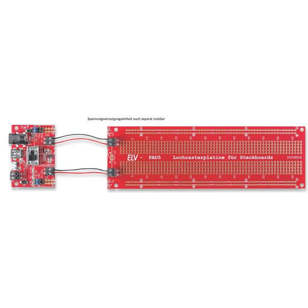 ELV Bausatz Lochrasterplatine PAD5 für Steckboards mit Spannungsreglern