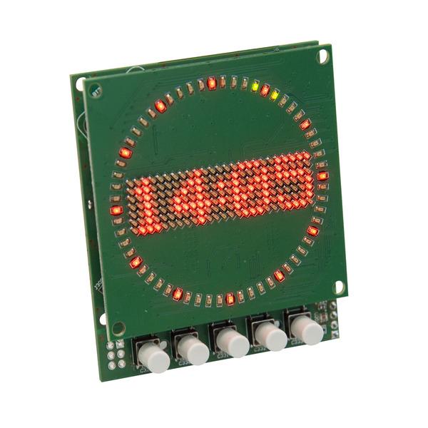 ELV Komplettbausatz Mini-Kreis-LED-Uhr MKLU1