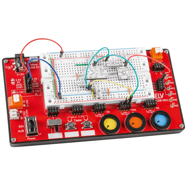 ELV Komplettbausatz Experimentier-/Steckboard EXSB-Mini