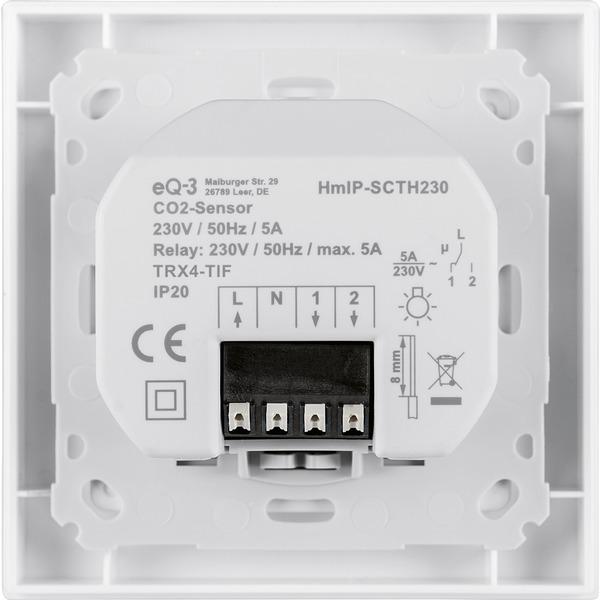 Homematic IP Smart Home CO2-Sensor HmIP-SCTH230, 230 V