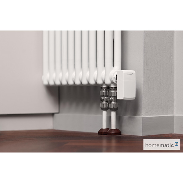 Homematic IP Smart Home Heizkörperthermostat - kompakt 2, HmIP-eTRV-C-2 inkl. Demontageschutz