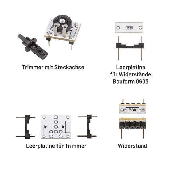 ELV Aufbewahrungsbox mit Widerständen und Trimmer PAD-PRO-W1, 315 Teile
