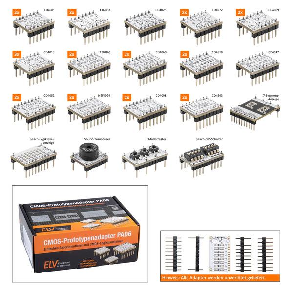 ELV Bausatz Prototypenadapter für Steckboards PAD6, CMOS-Logik