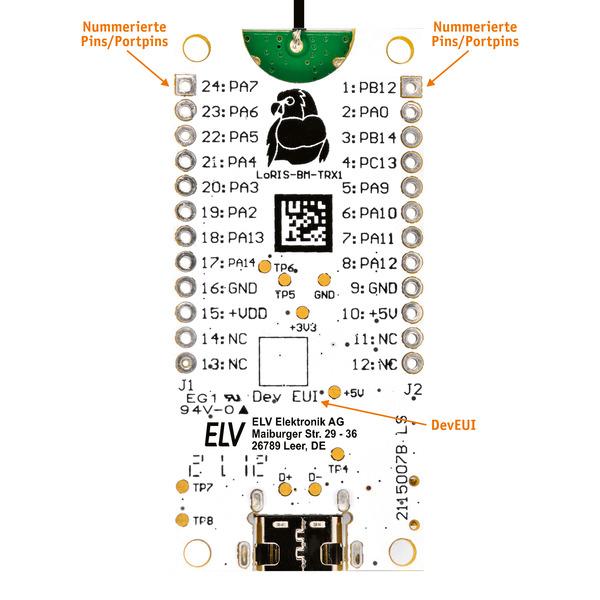 LoRIS-Base Experimentierplattform für LoRaWAN, LoRIS-BM-TRX1