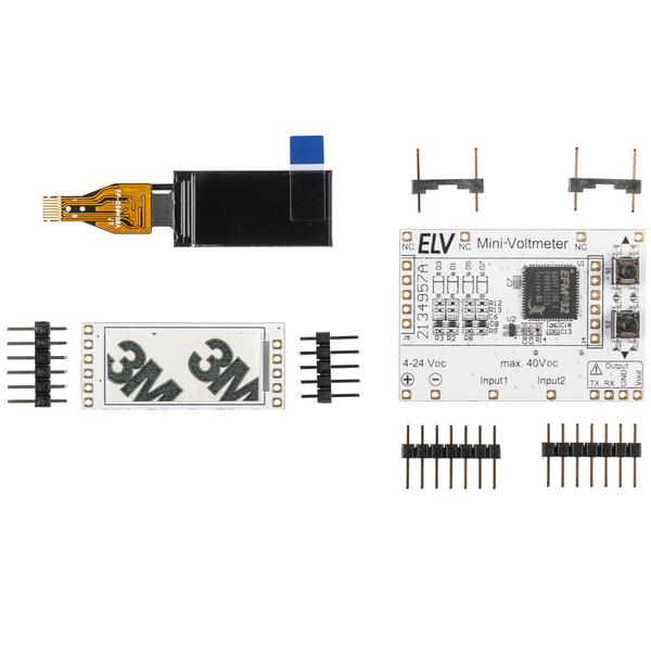 ELV Bausatz Mini-Voltmeter für Steckboards mit TFT-Display, MVM1