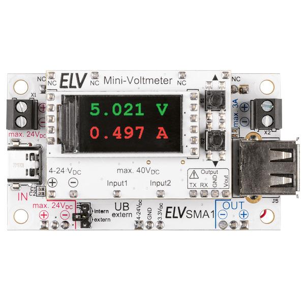 ELV Bausatz Strommessadapter SMA1 für ELV Mini-Voltmeter für Steckboards