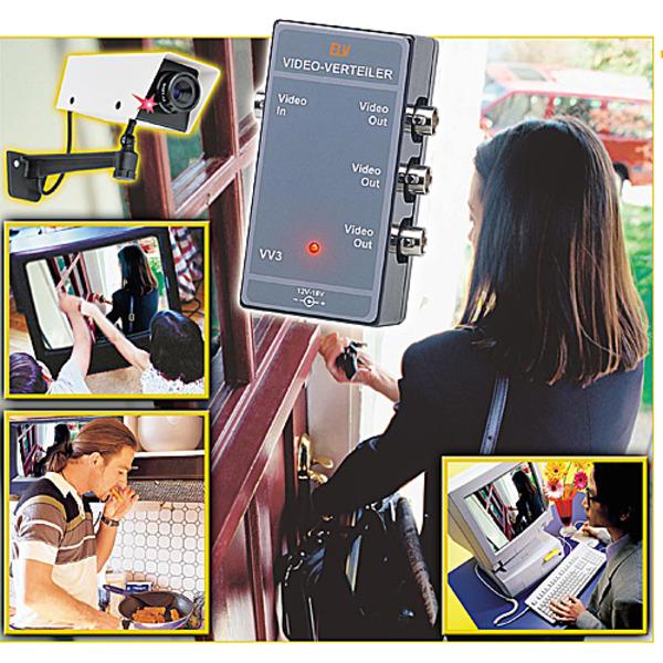 Schnell verteilt - 3-fach-Videoverteiler VV3