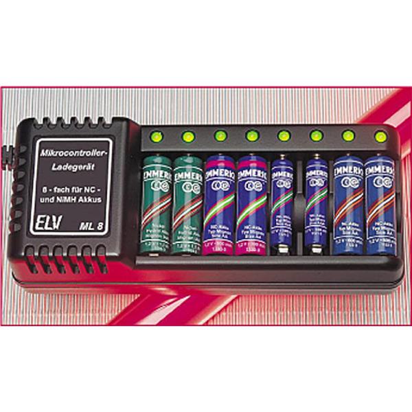 8fach-Mikrocontroller-Ladegerät ML 8