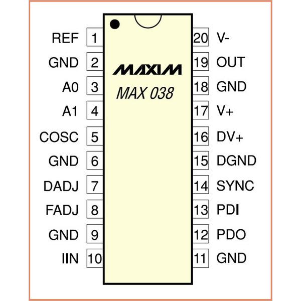 Funktionsgenerator MAX 038
