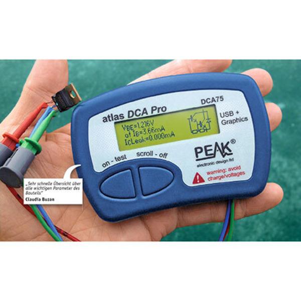 Leser testen den PEAK Atlas DCA75 Pro Halbleiter-Tester