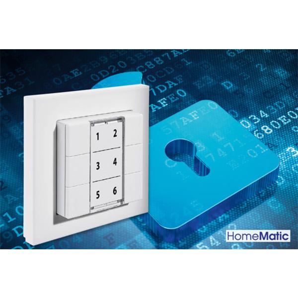 Universal-Codeschloss mit Homematic®-6fach-Wandtaster