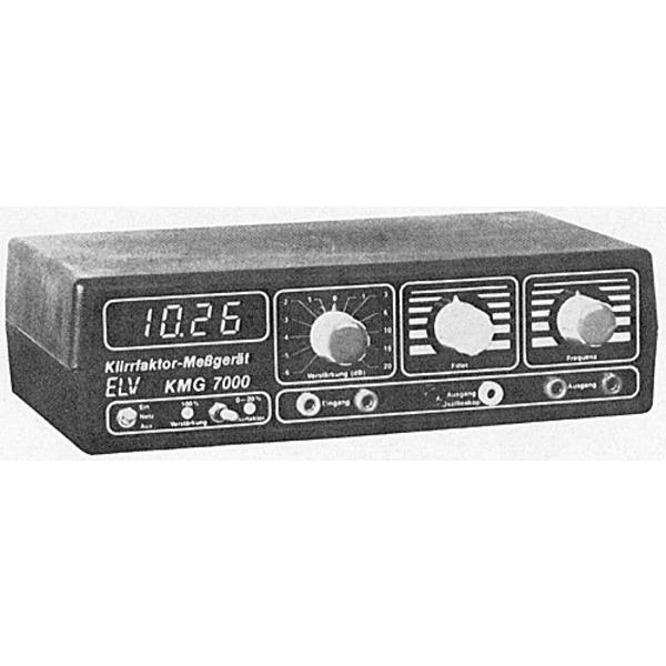 ELV-Serie 7000: Klirrfaktor-Meßgerät KMG 7000 - Mit digitaler Anzeige sowie eingebautem extrem klirr