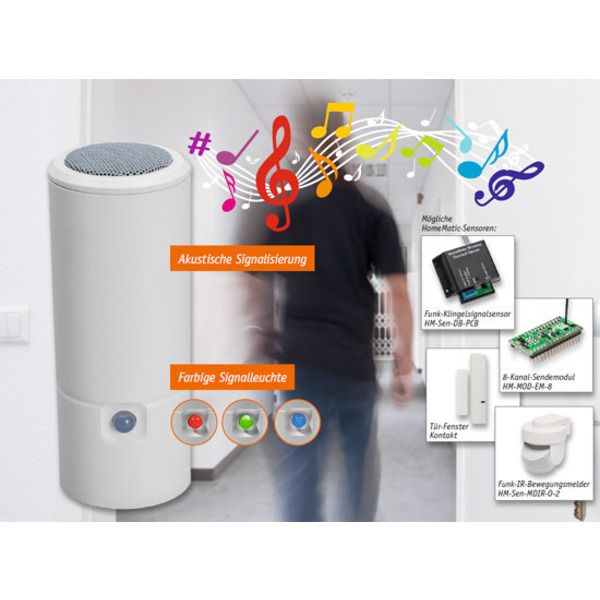 Mobil signalisiert - Homematic MP3-Funk-Gong mit Signalleuchte
