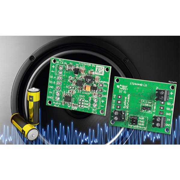 Spezialist für Batteriebetrieb - 2W-Class-D-Verstärker DA2 für 3-V-Betrieb
