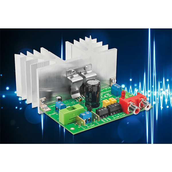 Analog, kompakt und mit Power - 2 x 38-W-Audio-Verstärker V76