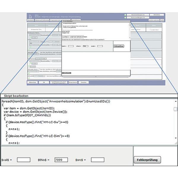 Homematic Scriptprogrammierung Teil 8: Infodarstellung auf mediola Interface und dazugehörige Script