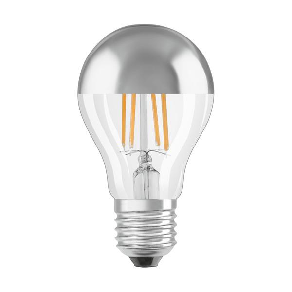 OSRAM LED Mirror Silver 4-W-Filament-LED-Lampe E27 mit Silberkuppe