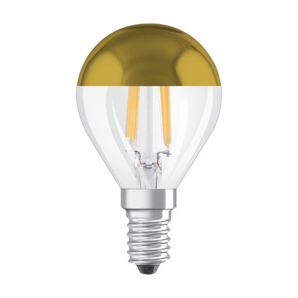 OSRAM LED Mirror Gold 4-W-Filament-LED-Lampe E14 mit Goldkuppe