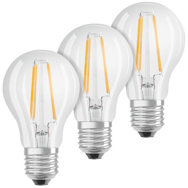 OSRAM 3er Set 7-W-LED-Lampe E27, dim to warm