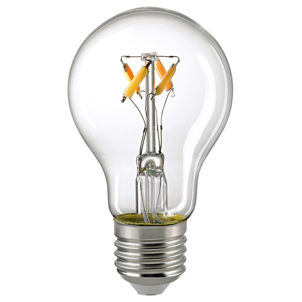 Civilight 6,5-W-Filament-LED-Lampe E27, dim to warm-Technologie