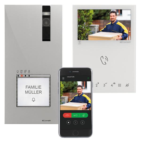 Comelit Wifi-Video-Türsprechanlage für 1-4 Familienhäuser, Inneneinheit mit 10,9-cm-Farbmonitor