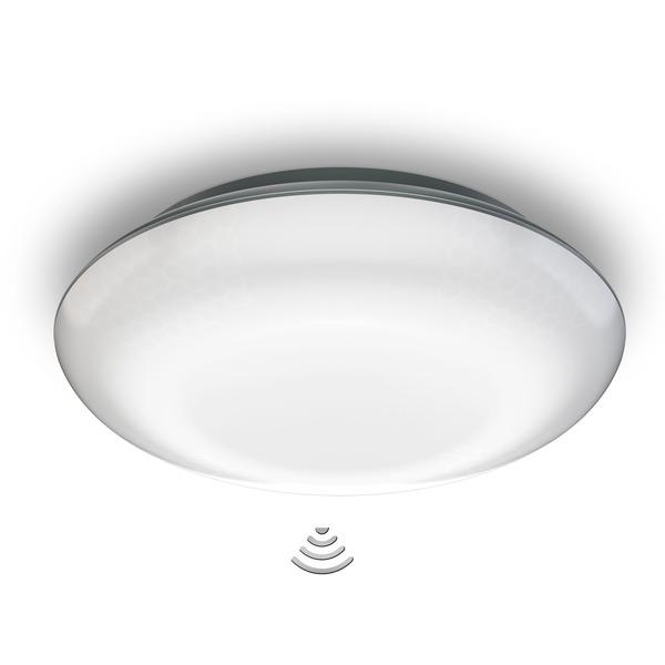 Steinel 10-W-Sensor-LED-Deckenleuchte mit 4 einstellbaren Sensoren, Nachtlichtfunktion