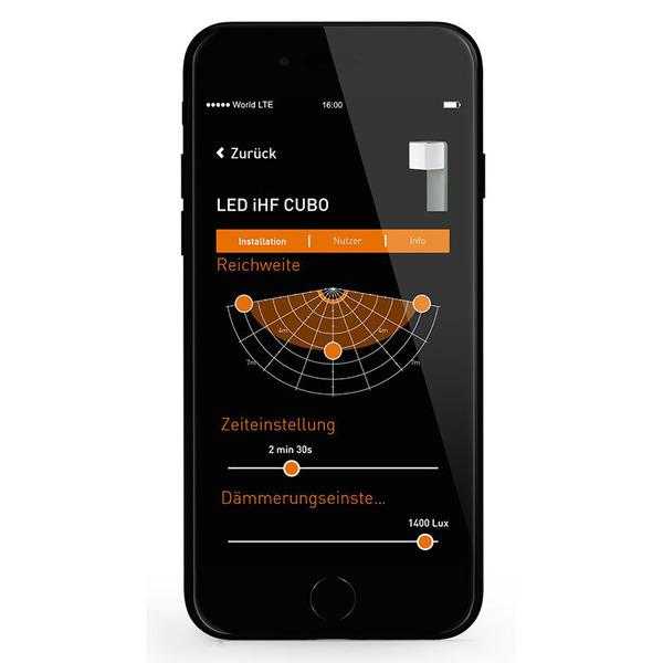 Steinel L 835 LED iHF Sensor-LED-Wandleuchte mit HF-Bewegungsmelder, per App einstellbar, anthrazit