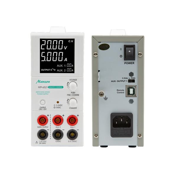 Manson Labornetzgerät NTP-6521, 1–20 VDC, 0,25–5 A