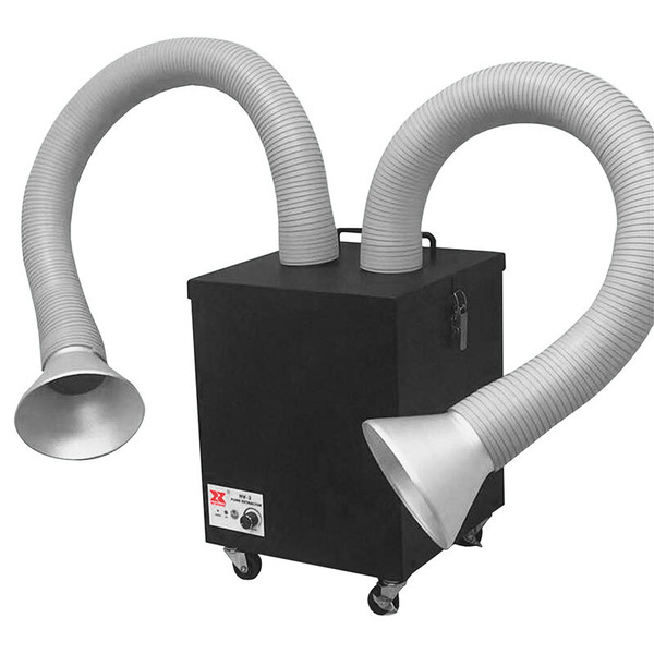 ELV Profi-Lötrauch-Absauggerät mit HEPA-Filter, Absaugleistung regulierbar, für 2 Arbeitsplätze