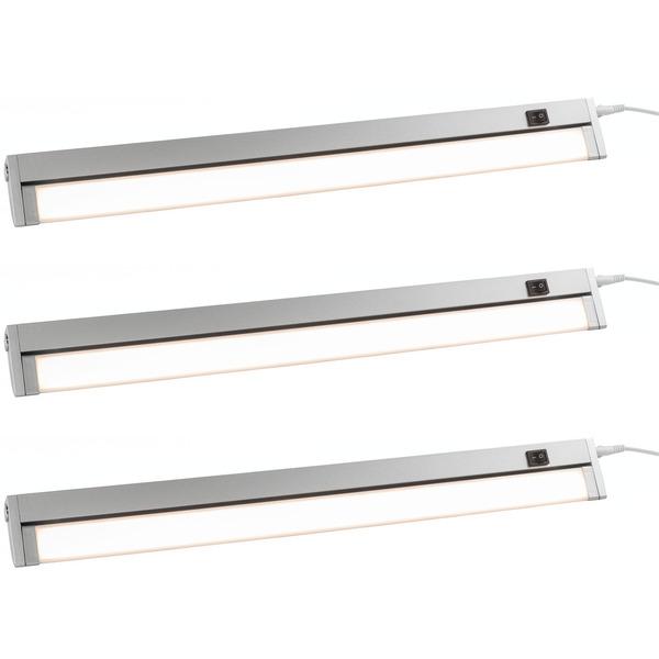 ELV 3er Set 10,5-W-LED-Unterbauleuchte mit Schalter