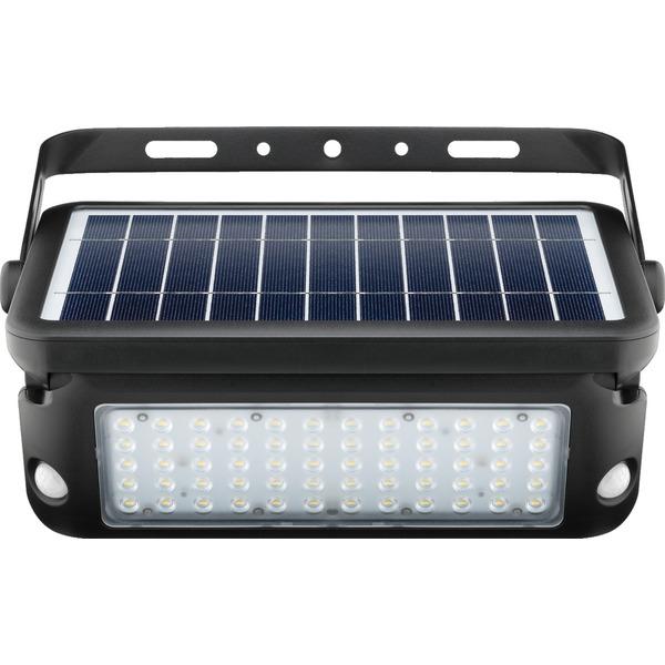 10-W-Premium-Solar-LED-Wandleuchte mit zwei PIR-Bewegungsmeldern, 1080 lm Lichtstrom, schwarz