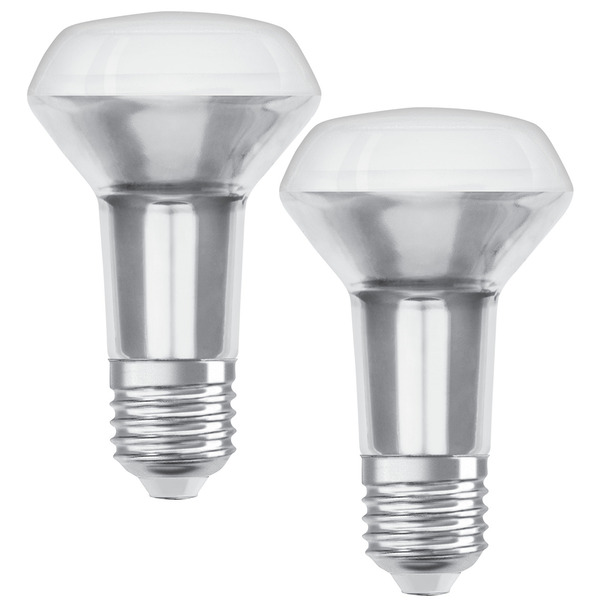 OSRAM 2er Pack 4,37-W-R63-LED-Reflektorlampen E27, warmweiß, 36°