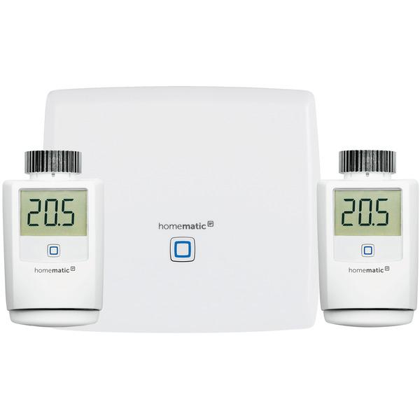 Homematic IP Starter Set Heizen mit Smart Home Zentrale CCU3 und 2x Funk-Heizkörperthermostat