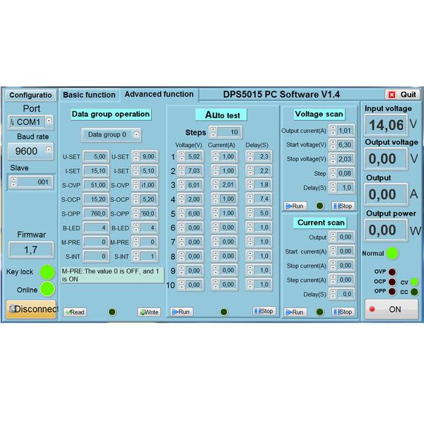 Joy-IT Programmierbares Labornetzteil 50V/5A JT-DPS5005
