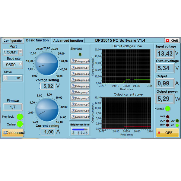 Joy-IT Programmierbares Labornetzteil 50V/15A JT-DPS5015