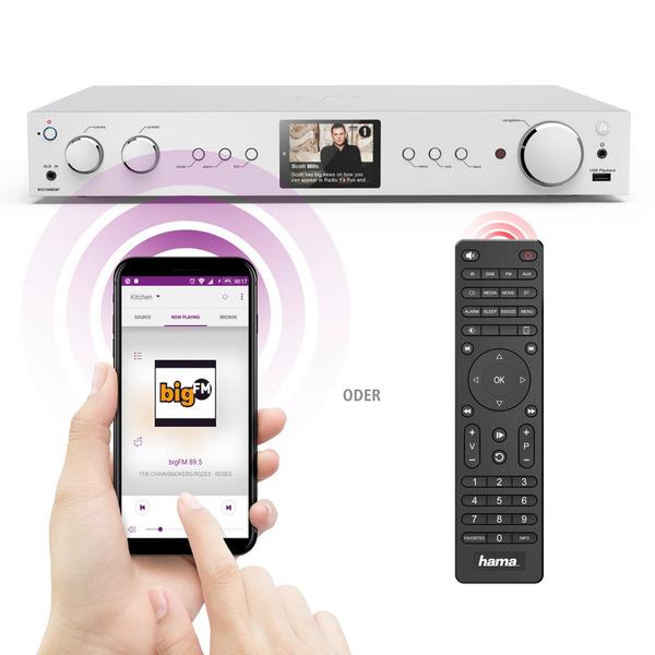 hama Radio-HiFi-Tuner DIT2100MSBT, DAB+/UKW/Internetradio, USB, Bluetooth, Spotify, Alexa