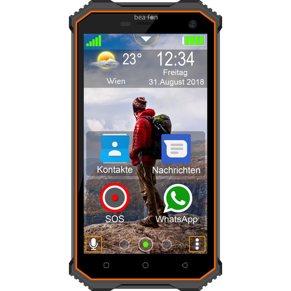 "Bea-fon Outdoor-Smartphone X5, 12,7-cm-Display (5""), SOS-Funktion, GEO-Fencing, Android, IP68, 16 GB"