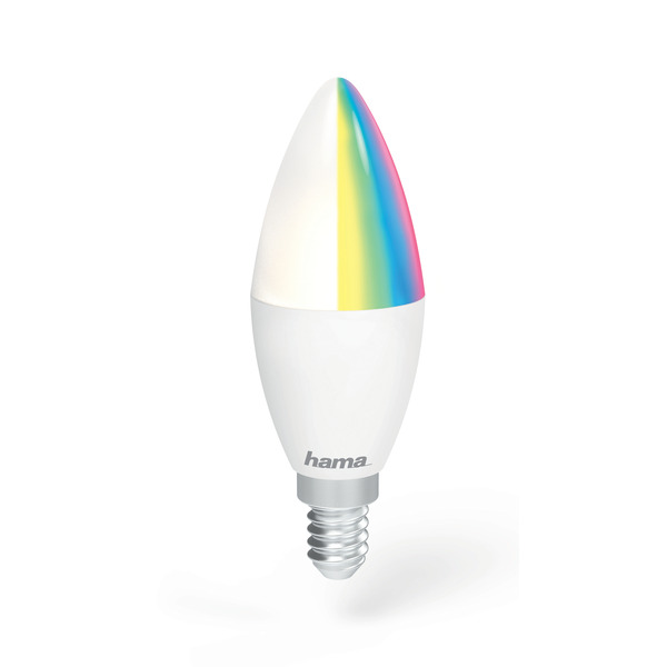 hama 4,5-W-WiFi-RGB-LED-Kerzenlampe E14, Sprachsteuerung mit Amazon Alexa und Google Assistant