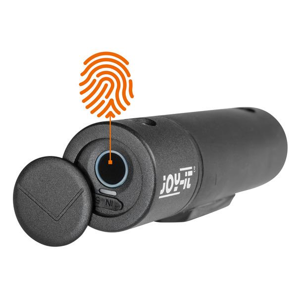 Joy-IT Bügelschloss Joy-Lock II, mit Fingerabdrucksensor, 10 Fingerabdrücke anlernbar, Akku, IP65