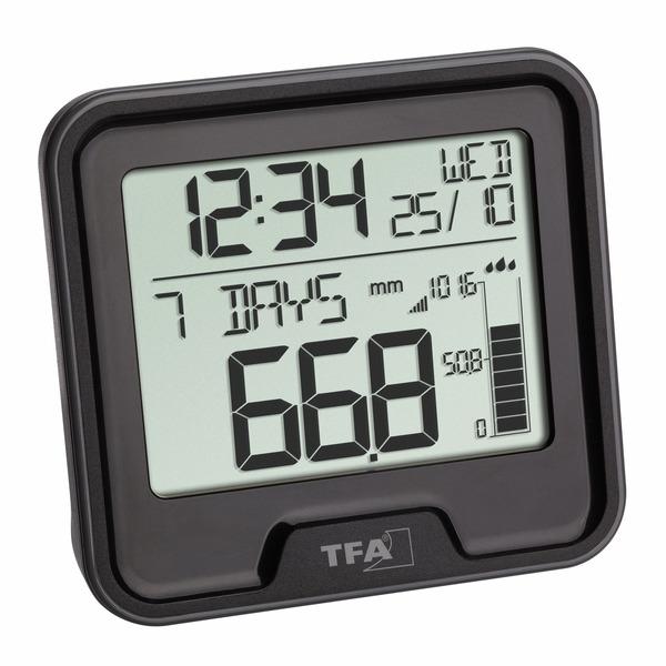 TFA Funk-Regenmesser DROP mit Basisstation, Niederschlagsmenge, Innentemperatur, 433 MHz