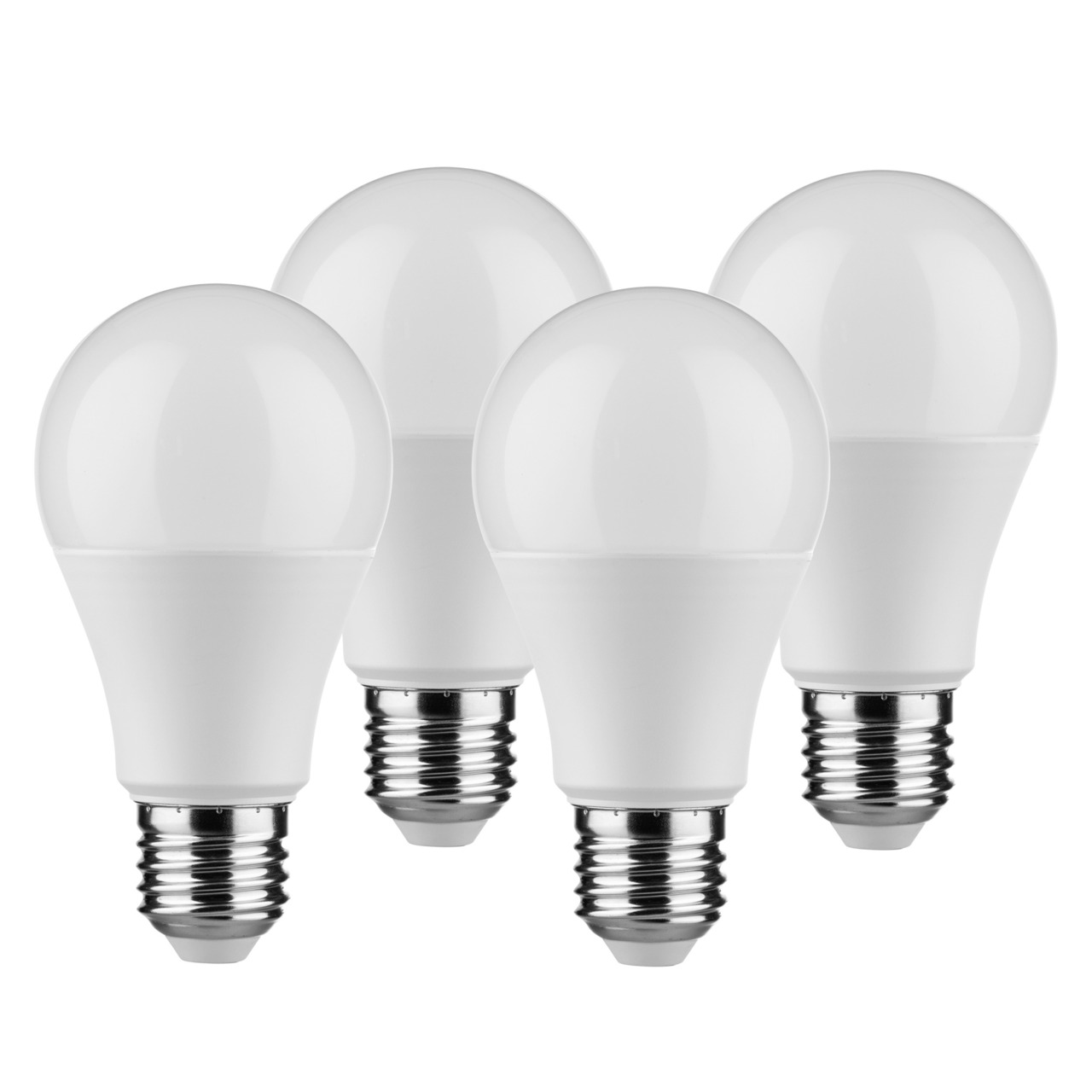 Müller Licht 4er Pack 9-W-LED-Lampen E27- warmweiss- 806 lm